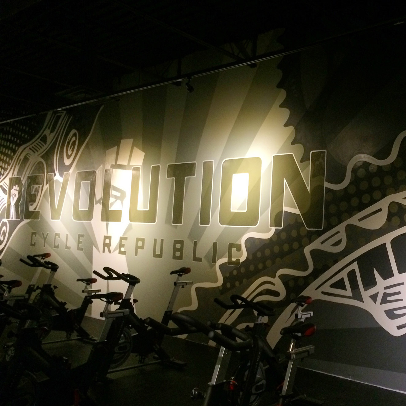 Cycling Studio Interior Mural image